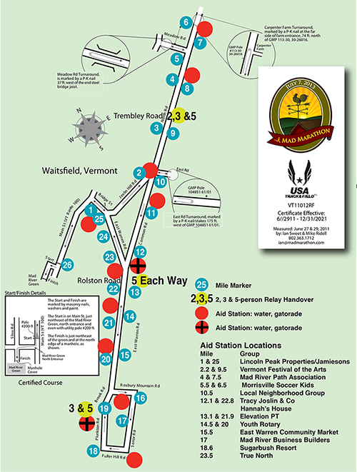 Mad Marathon course map