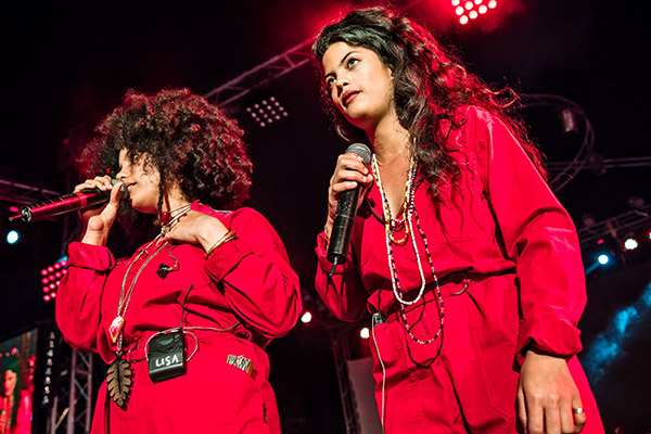 French-Cuban musical duo, and twin sisters, Ibeyi at Musicabana Festival in Havana on May 6, 2016. Photo: David Garten