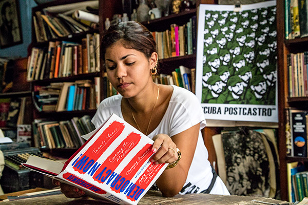 At the Victory Bookstore in Old Havana on May 3, 2016. Photo: David Garten