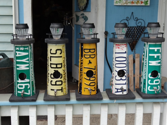 License plate light houses
