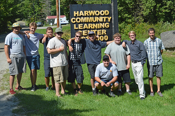 Harwood Community Learning Center class with teachers Paul Kramor and Alex Rawson. Photo: Chris Keating