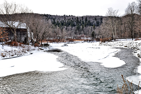 The Mad River in Waitsfield. Photo: Jeff Knight
