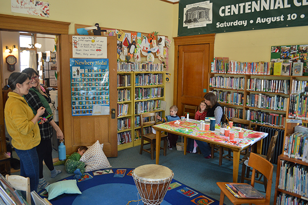 Children's room at the Joslin Memorial Library in Waitsfield, VT.