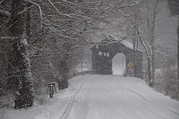 Pine Brook covered bridge in Waitsfield, VT. Photo: Jeff Knight