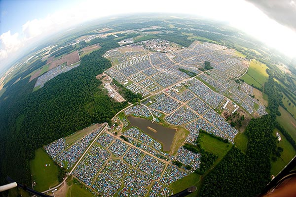 Bonnaroo Field in Tennessee