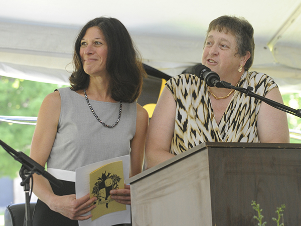 L-R, Amy Rex and Lisa Atwood have been named Vermont Secondary School Principals of the Year. VR File Photo.