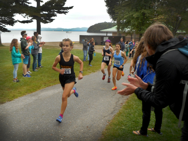 Harwood's Julianne Young placed sixth at the Burlington Invitational on September 9. Photo: Stephen Magill