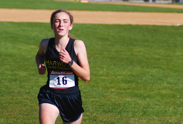 Erin Magill of Harwood won the NVAC and led her team to a second place overall. Photo: Laura Caffry