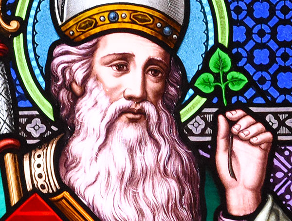 St. Patrick in stained glass