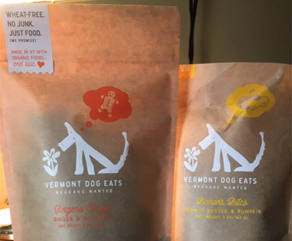 Vermont Dog Eats is a local business that has a variety of tasty treats for pups to try out.