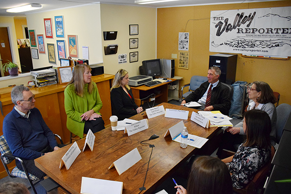Round Table Loomis.Governor Phil Scott Visits The Valley Reporter