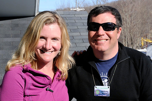 Eric Friedman, right, and his wife, Holly Zanes.