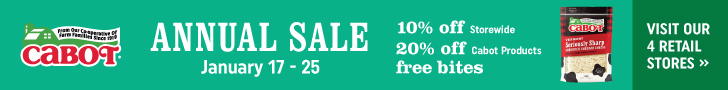 Cabot Annual Retail Sale