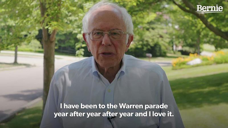 A Warren Fourth of July message from Senator Bernie Sanders