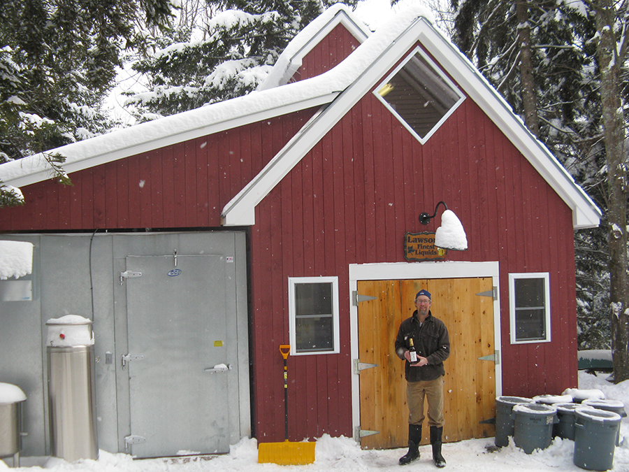Sean Lawson at his Warren, Vermont brewery