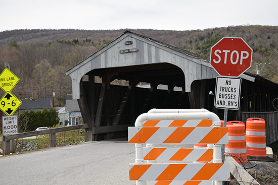 Covered bridge in Waitsfield. Photo: Jeff Knight