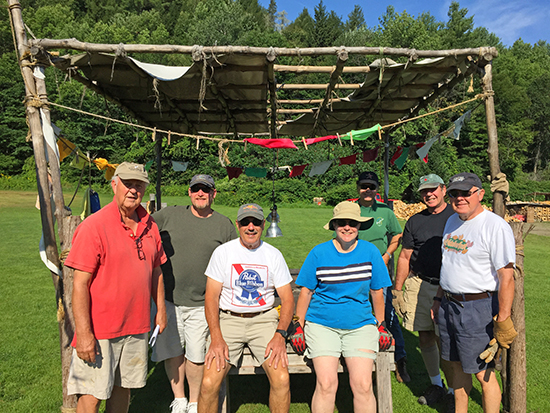 The Mad River Rotary Club's crew gathered at Lareau Farm to prepare for this Saturday's Music Festival, August 8. Family events are scheduled for the afternoon with the music events in the evening. Crew members, L to R, Dave Koepele, Karl Klein, Dave Ellison, Susan Snider, Ken Nadolny, Marv Ginzel and Gary Plewak.