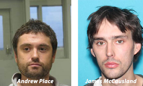 VSP investigators identified Andrew Place and James McCausland  as being responsible for both armed robberies at the Northfield Savings Bank in Waitsfield.
