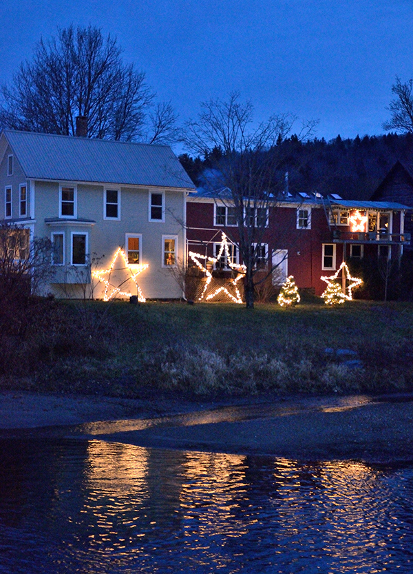 Stars along the Mad River in Waitsfield. Photo John Duggan & The Valley Reporter - Enjoy the Festival of Lights u2013 a guide to ...