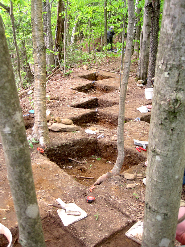 Between 2011 and 2013, archaeologists from the Green Mountain National Forest service, along with volunteers, excavated an area of Warren Falls and found remnants of stone tool making from approximately 2,500 years ago.