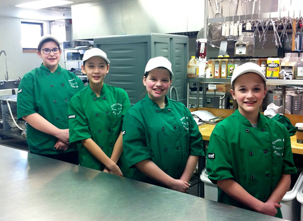 The Crossett Brook Middle School Jr Iron Chef team, from left to right: Isabelle Morse, Ellett Merriman, Lilly Dolloff and Emily Bryant.