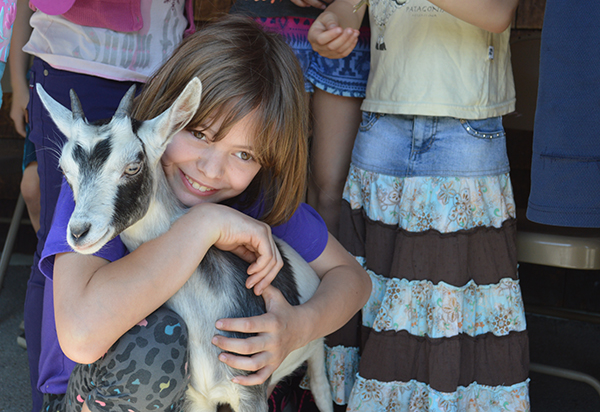 Fayston Elementary School students participated in Farm Day on May 26. Photo: Tracy Brannstrom