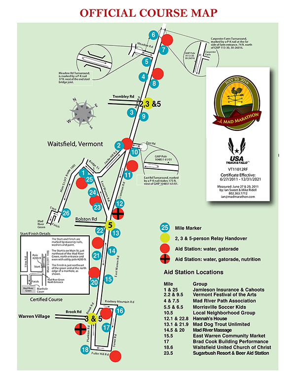MadMarathon Course map sm