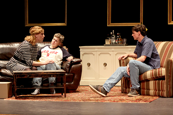 Left to right: Jennifer Lord, Andra Kisler and Will Wuttke discuss gender issues facing their family in Raggedy And.