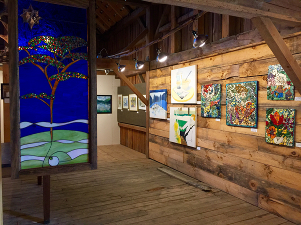The Big Red Barn Art Show. Photo: Rebecca Silbernagel