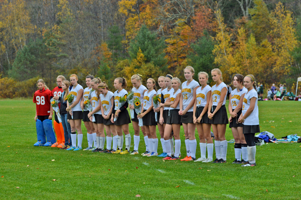 Harwood Union High School girls field hockey team. Photo: Chris Keating