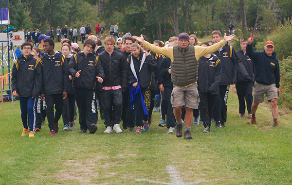Coach John Kerrigan has been leading the Harwood cross-country team for 38 years. Photo: Laura Caffry.