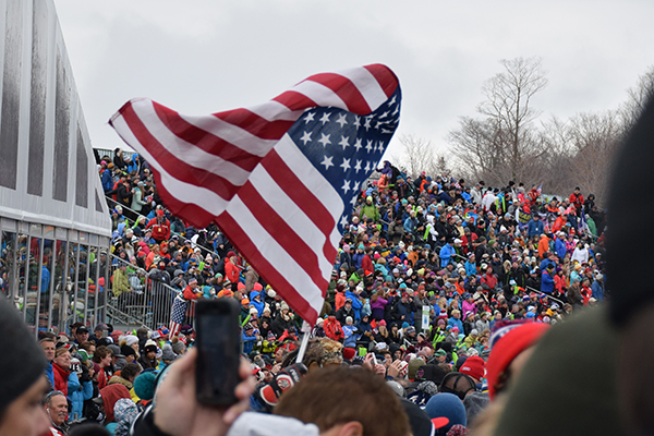Big crowds at the Killington World Cup ski race. Photo: Jeff Knight