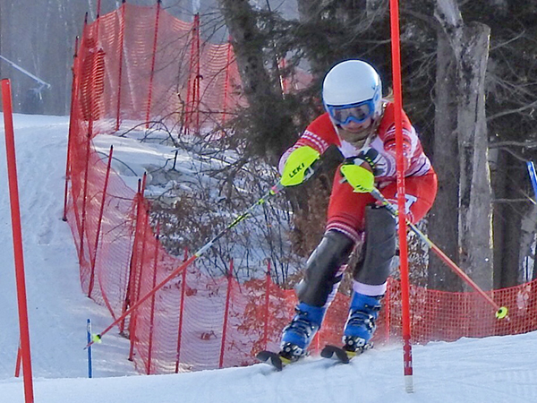 Harwood's Piper Beilke placed third overall in the Mach Schnell Slalom on January 30. Photo: Jennifer Boland