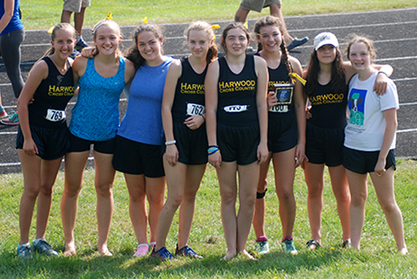 Harwood Girls JV Cross Country team. Photo: Laura Caffry