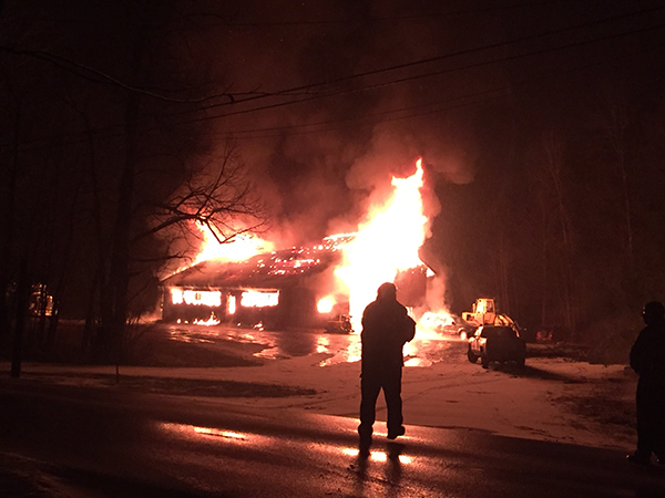 Fire completely destroyed Fred Viens' garage on North Fayston Road on December 9. Photo: Jodie Curran