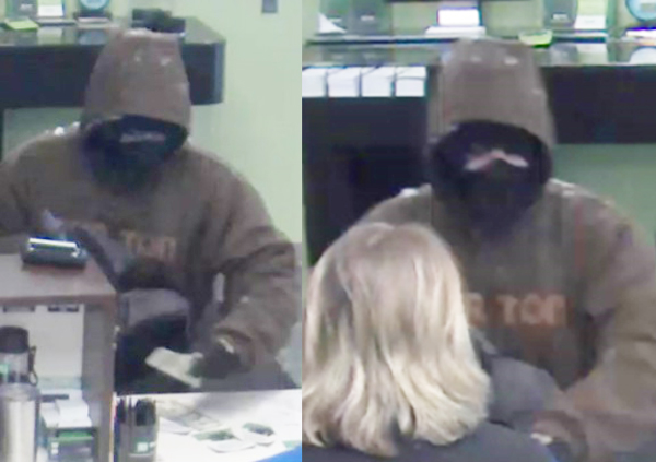 Images of suspect who robbed, at gunpoint, the TD Bank in Waitsfield on Monday, December 18.