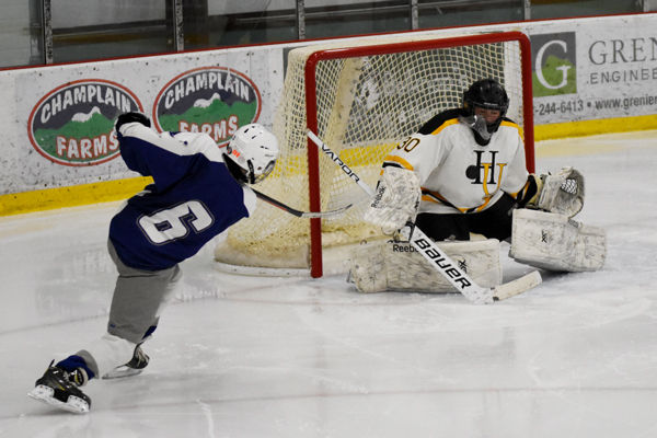 Harwood goalie making a save. Photo: Christopher Keating