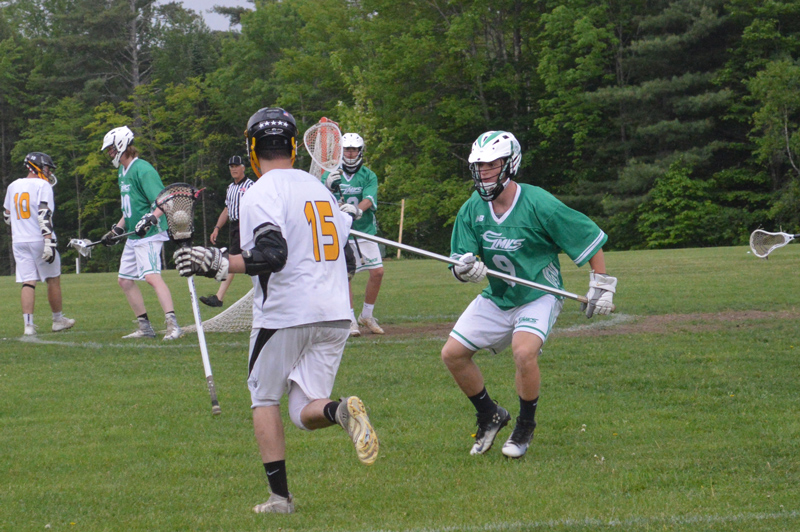 No.1 seeded Harwood Boys' Lacrosse beat No. 9 seeded GMVS 14-3 on Friday, June 1, advancing to the semifinal round. Harwood will host No. 4 seeded Stratton Mountain on Tuesday, June 5 at 4 p.m. Photo: Katie Martin