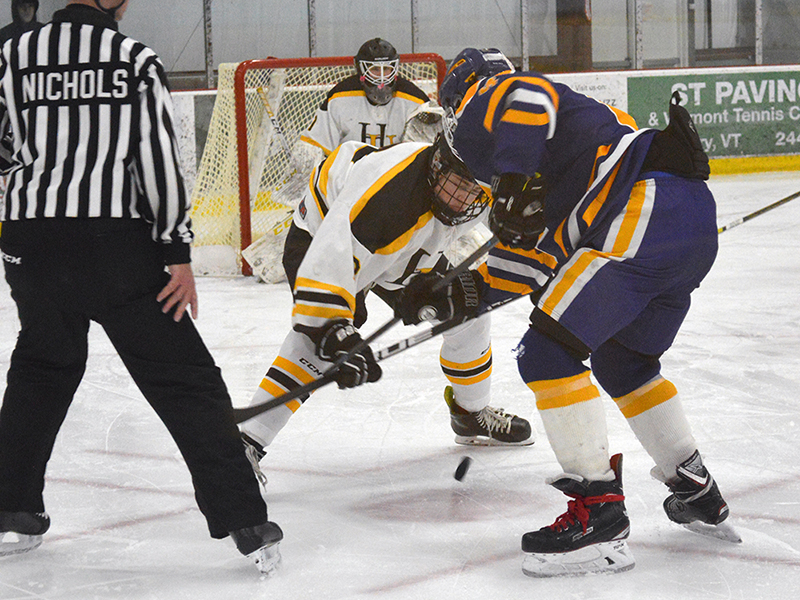 Harwood varsity boys' hockey team hosted No. 9 seed Milton on Saturday, March 2, 2019