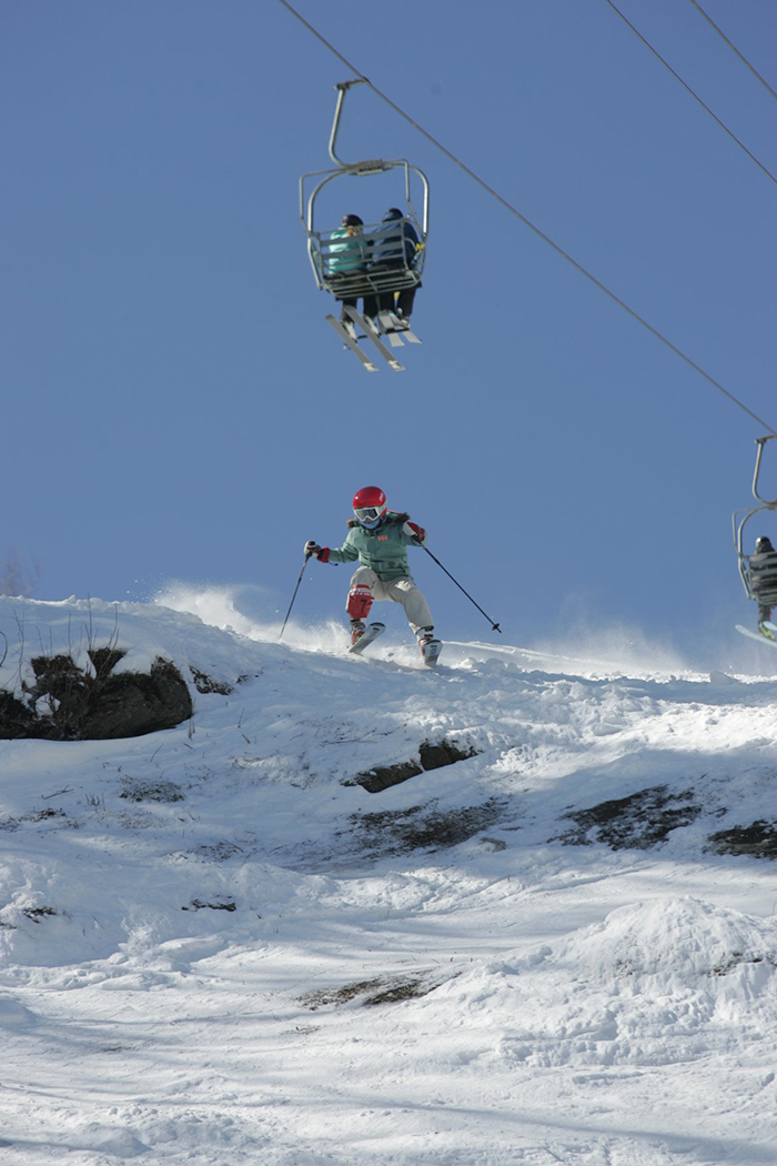 Extreme and freeride skiing at SB, MRG in the 22nd annual Castlerock Extreme. Photo: TJ Greenwood
