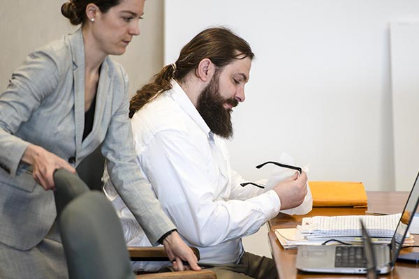 Photo - Glenn Russell, Bourgoin trial