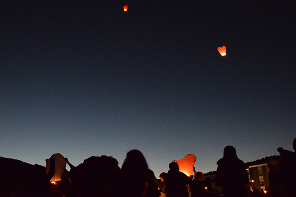 Lanterns released in memory of the five teens killed in the wrong-way driving crash