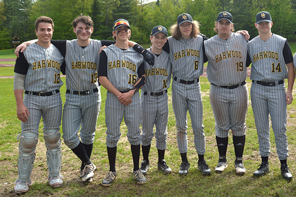 The seniors of the Harwood baseball team are, left to right, Chase Reagan, Bobby Kelly, Charlie Zschau, Cam Joslin, Nate Pierce, Sean Russell and Max Hill.