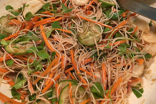 Summer noodle salad