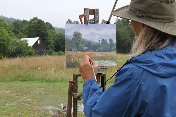 Photo courtesy of Valley Arts. The Great Vermont Plein Air Festival returns to Waitsfield Village on July 19 and 20