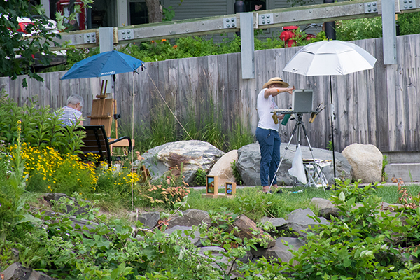 Pocket park plein air