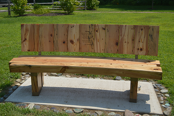 Eli Brookens' memorial bench installed