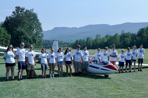 Twelve campers each received a 20-minute glider lesson and logbook endorsement as part of their weeklong camp.
