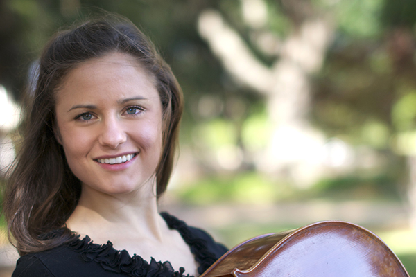 Cellist Miranda Henne, along with Lauren Cawley and Ellie Miller on violins, will play a Beethoven concert on August 11 and 12.