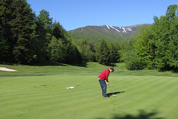 Photo: Jeff Knight, golf at Sugarbush